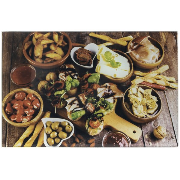 ANTIPASTI SML GLS CUTTINGBOARD