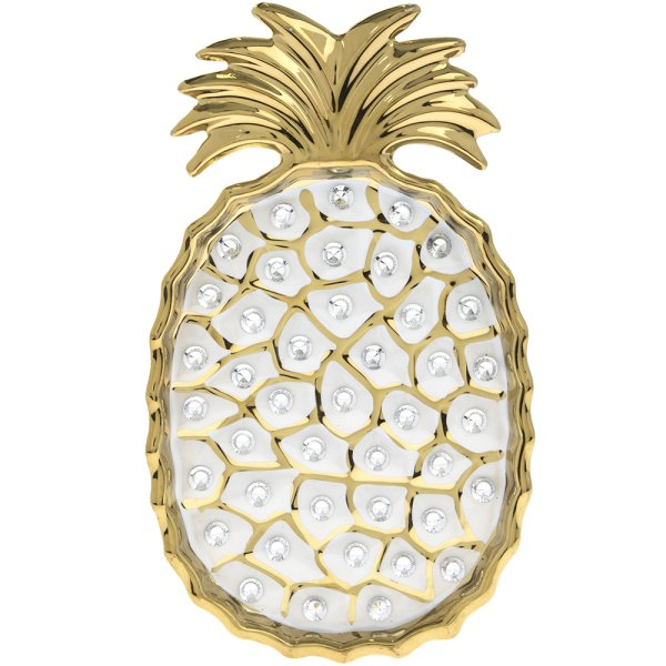 PINEAPPLE DISH GOLD 8""