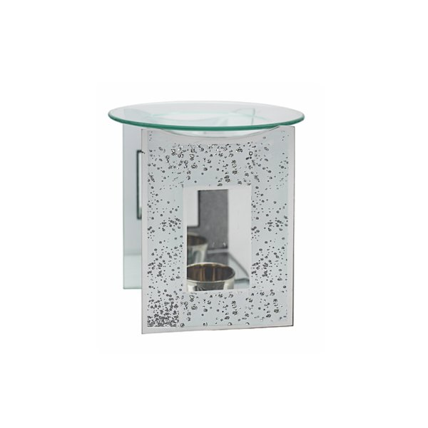 MIRRRO SILV GLITTER OIL BURNER