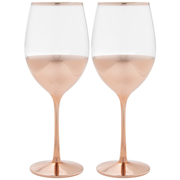 ROSE GOLD WINE GLASSES S2