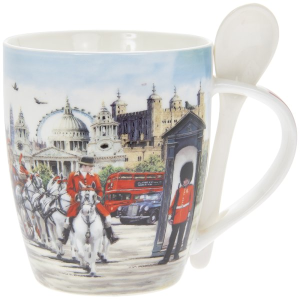 LONDON COLLAGE MUG & SPOON