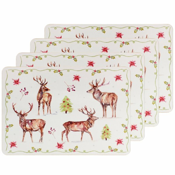 WINTER STAGS PLACEMATS SET 4