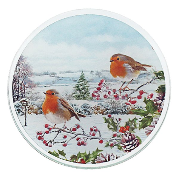ROBINS CANDLE PLATE 10CM