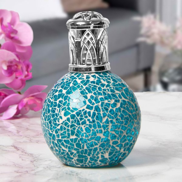 FRAGRANCE LAMP TEAL MOSAIC