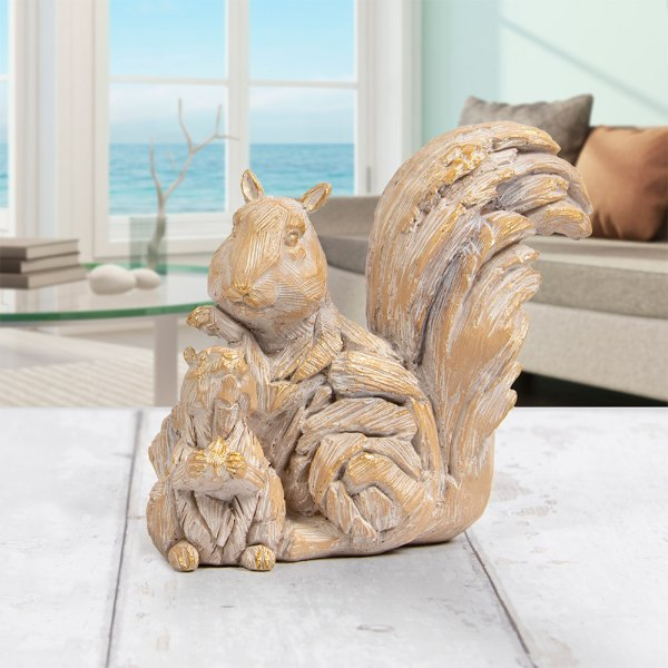 DRIFTWOOD SQUIRREL WITH BABY