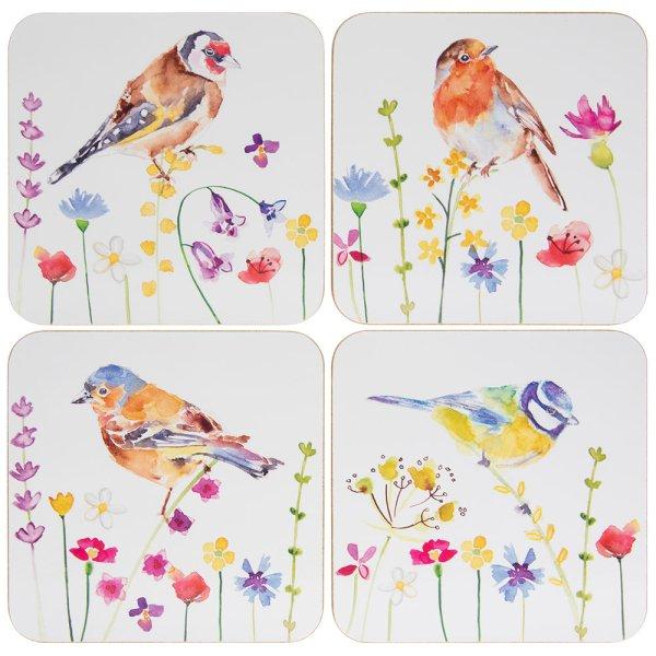 GARDEN BIRDS COASTERS S/4