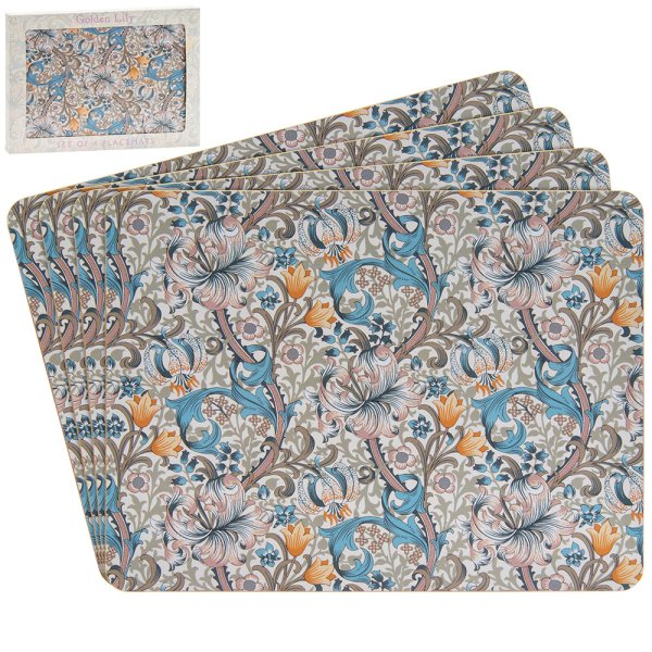 GOLDEN LILY PLACEMATS S/4