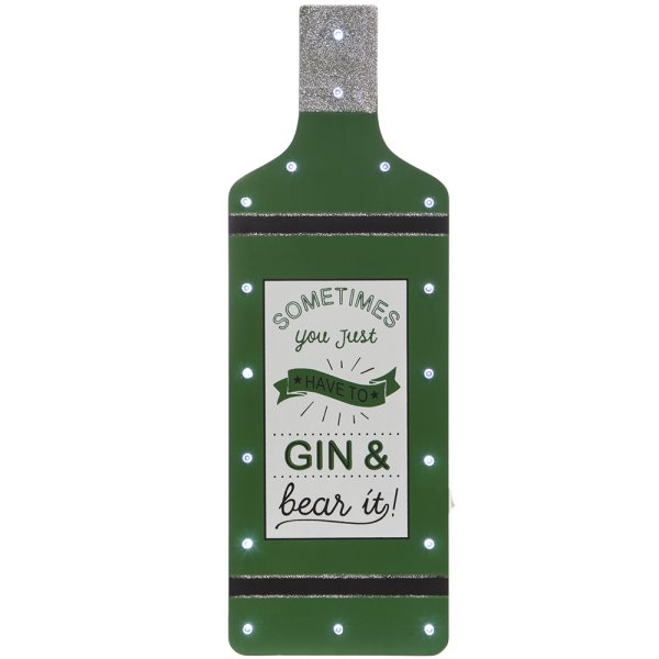 GIN & BEAR IT LED BOTTLE