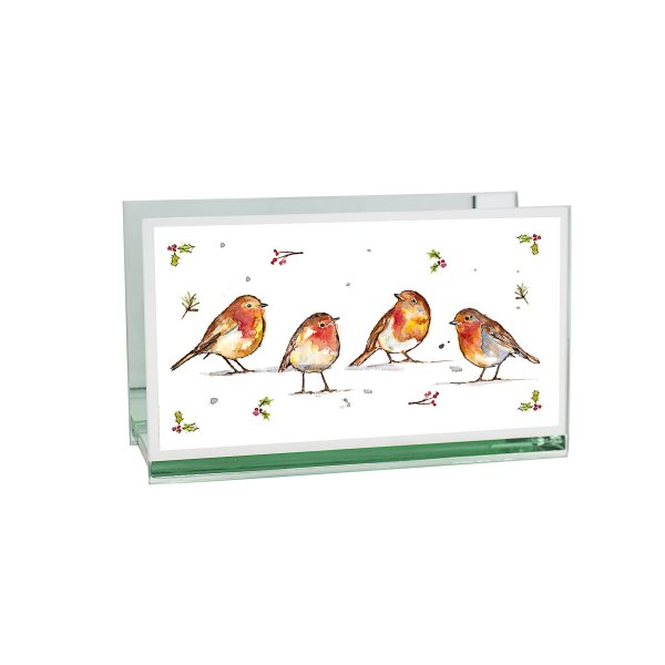 WINTER ROBINS TEALIGHT HOLD DB