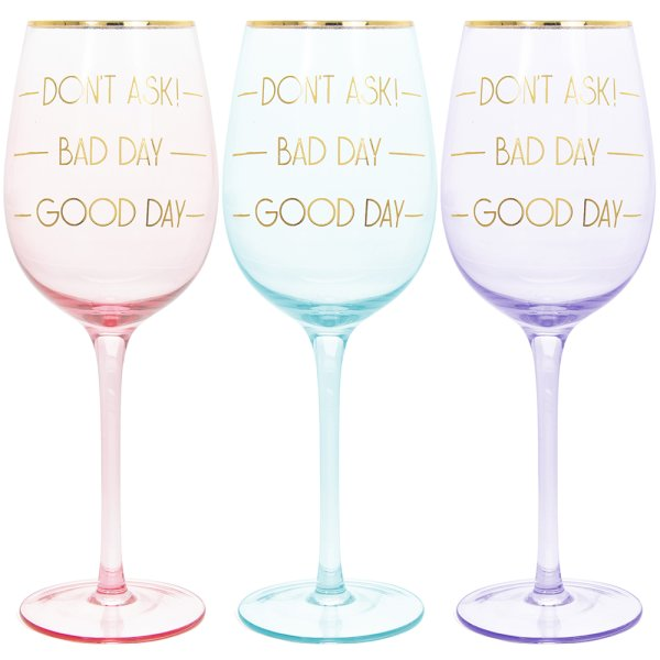 LETS PARTY WINE GLASS 3ASST