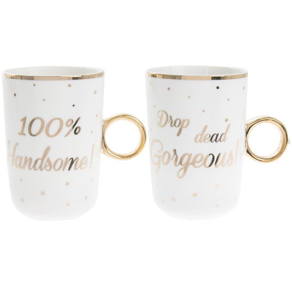 HANDSOME / GORG MUGS SET OF 2