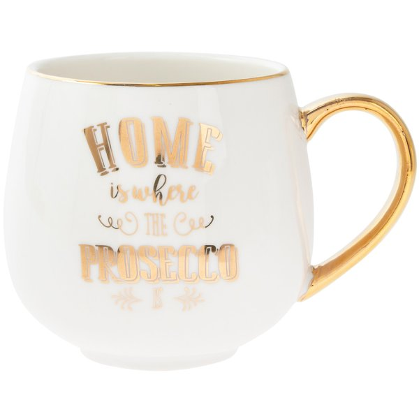 HOME IS WHERE PROSECCO HUGMUG