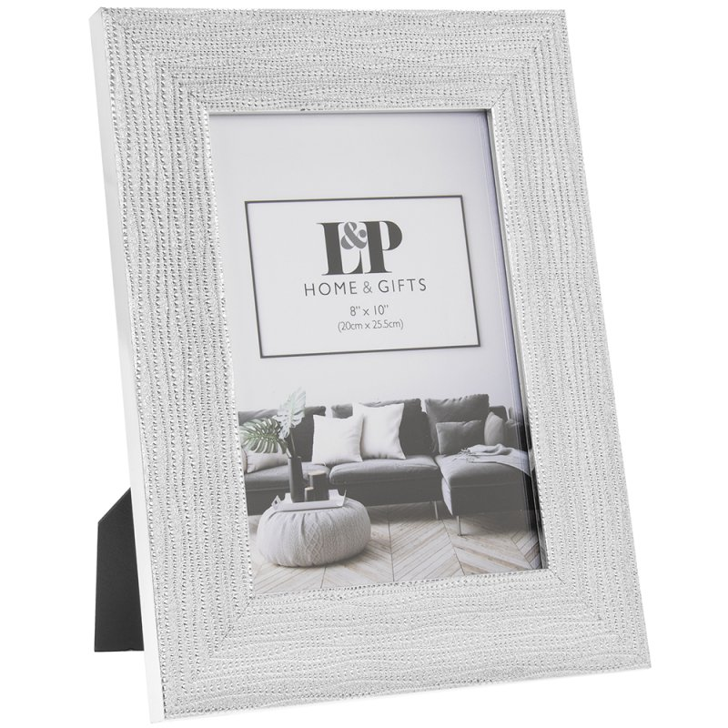 SILVER WEAVE PHOTO FRAME 5X7