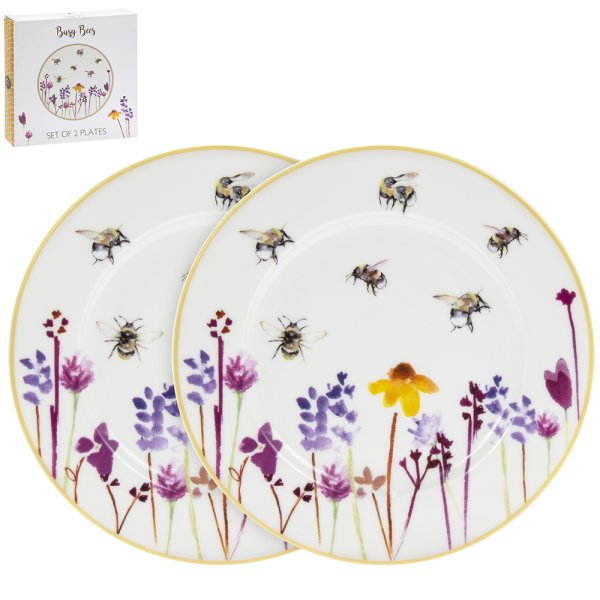 BUSY BEES PLATES 2 SET