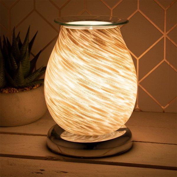 AROMA LAMP WHITE&GOLD GLITTER