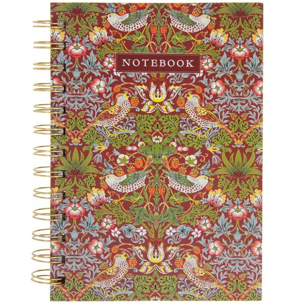 S BERRY THIEF RED B5 NOTEBOOK