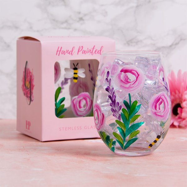 BEES STEMLESS GLASS