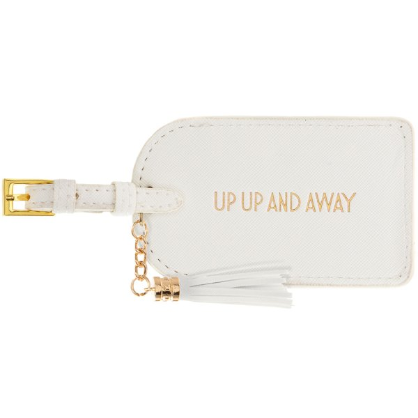 UP UP & AWAY LUGGAGE TAG WHITE