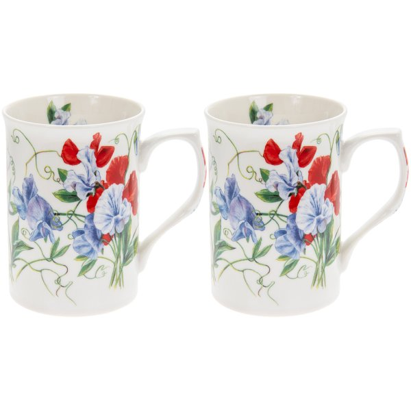 SWEET PEA MUGS SET 2