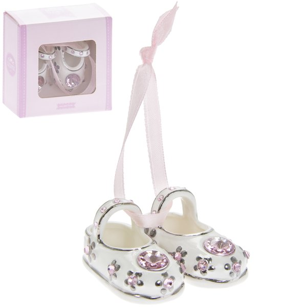 S/P DIAMANTE BABY BOOTIES PINK