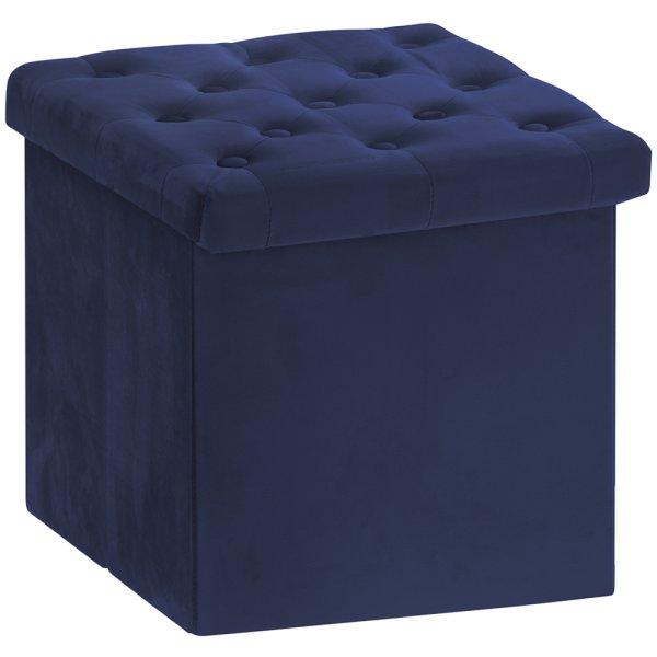 VELVET FOLDING BOX BLUE