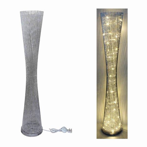 SILVER LED LAMP SPIRAL 145CM