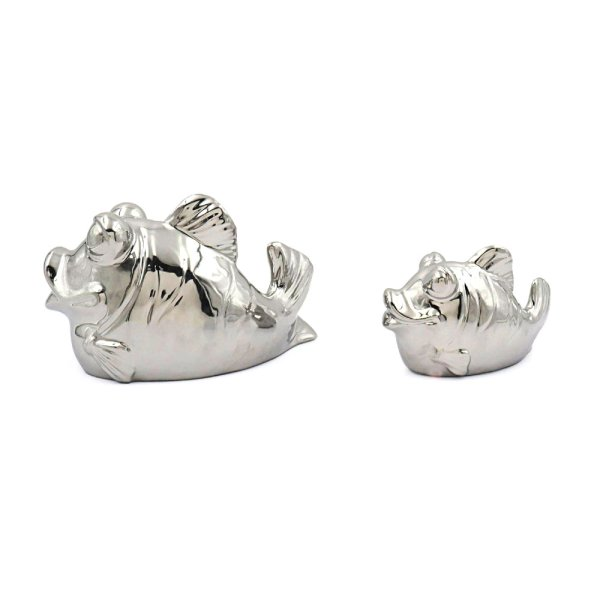 SILVER ART FISH PAIR