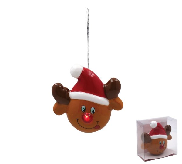RUDOLPH LED BAUBLE