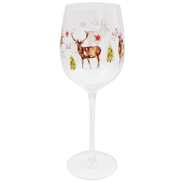 WINTER STAGS WINE GLASS