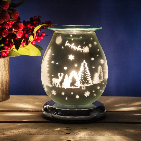 XMAS GLASS TOUCH AROMA LAMP