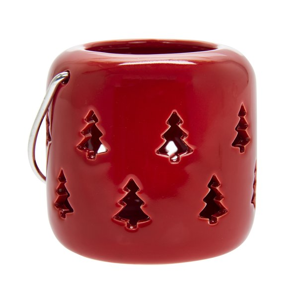 XMASTREE RED LANTERN8CM
