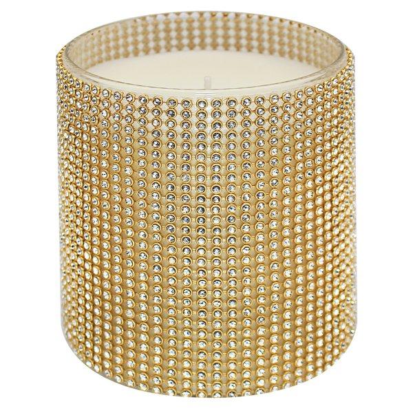 DIAMANTE CANDLE GOLD