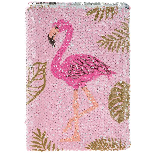 FLAMINGO SEQUIN NOTEBOOK