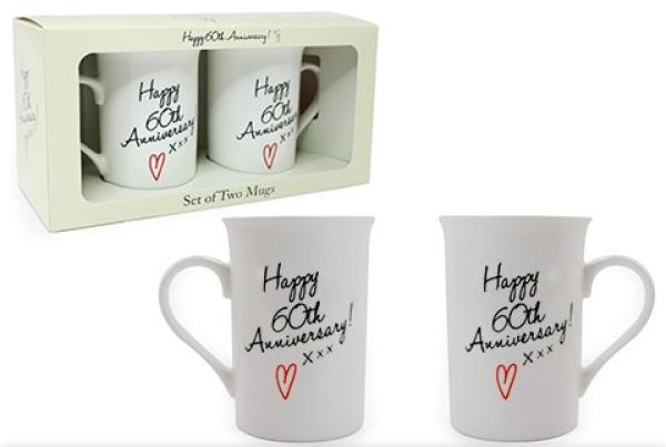 HAPPY 60TH ANNIVERSARY MUGS S2