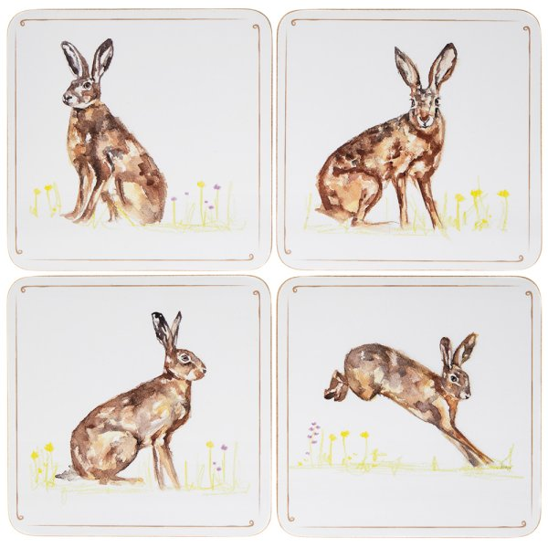 HARES COASTERS SET OF 4