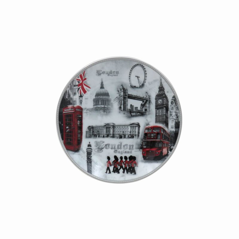 """LONDON PLATE W/STAND 6"""""""