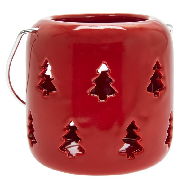 XMASTREE RED LANTERN10CM