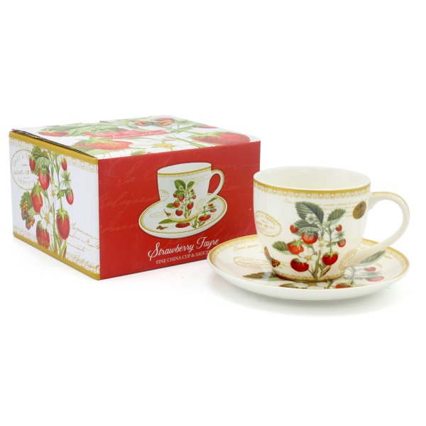 STRAWBERRY FAYRE CUP & SAUCER