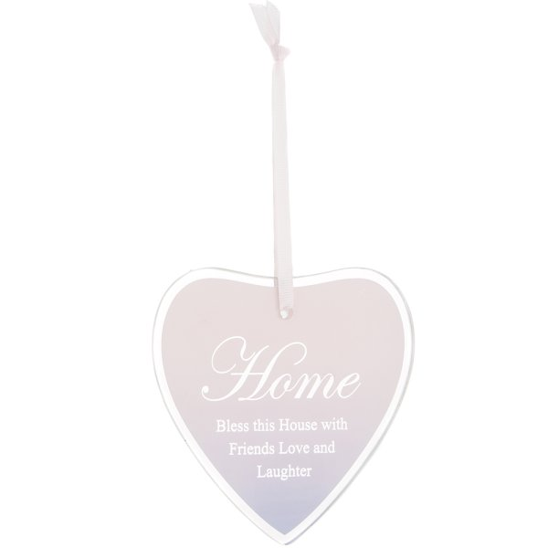 SENTIMENTS HEART PLAQUE HOME