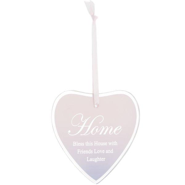 SENTIMENTS HEART PLAQUE HOME