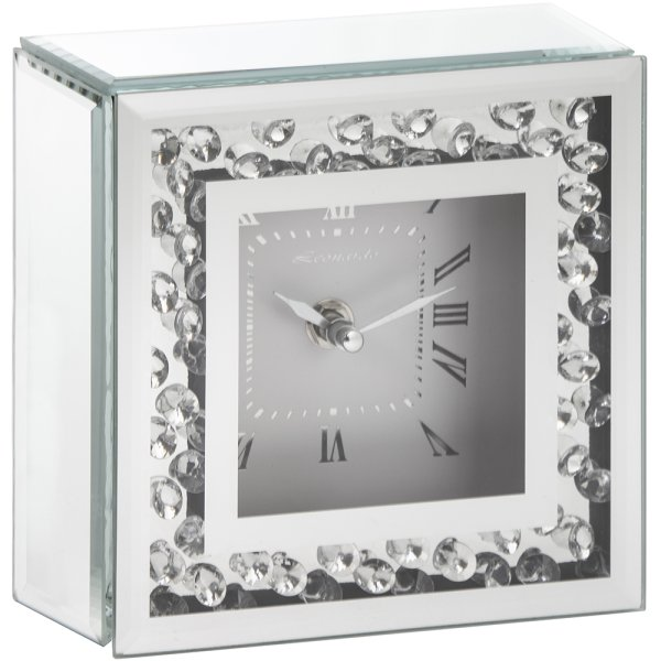 MIRROR & CRYSTAL CLOCK