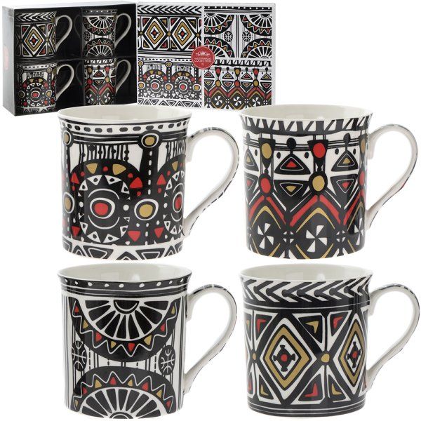 TRIBAL MUG SET OF 4