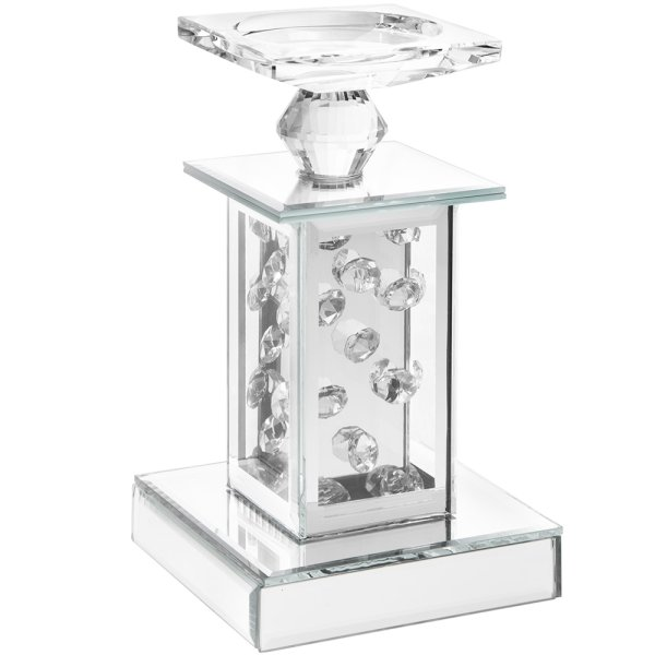 MIRROR CRYSTAL CANDLE HOLDER