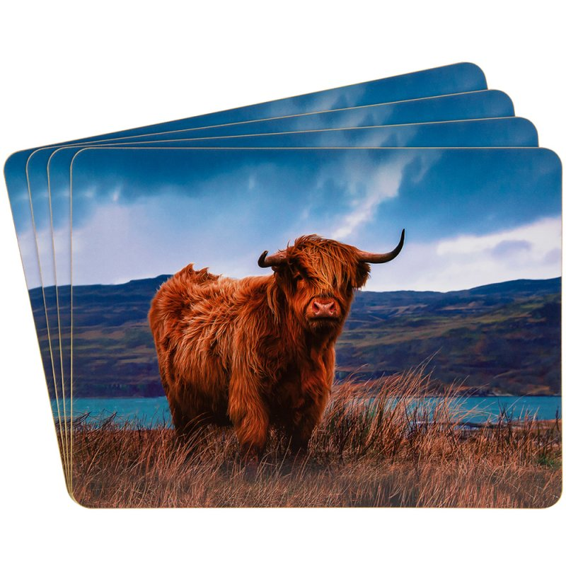 HIGHLAND COW PLACEMATS SET 4