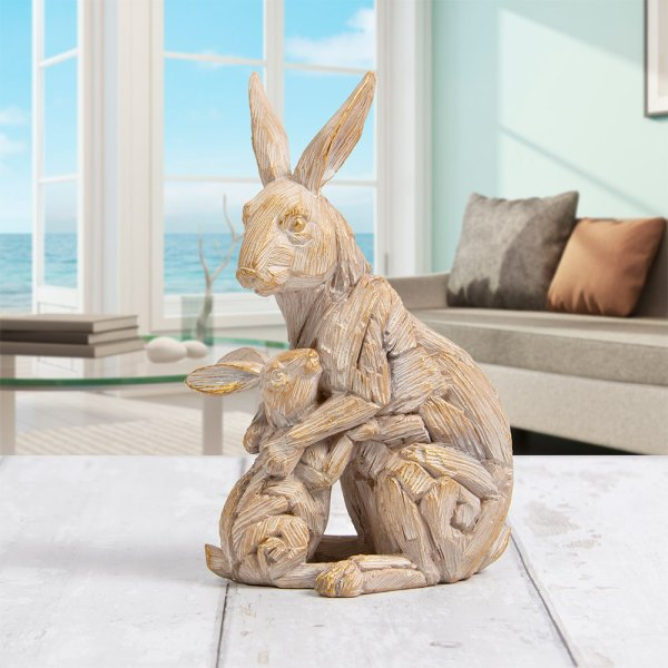 DRIFTWOOD HARE WITH BABY
