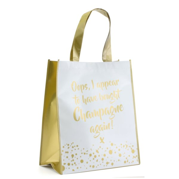 CHAMPAGNE SHOPPING BAG