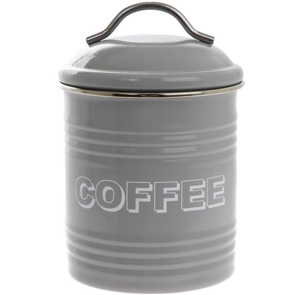 HSH GREY COFFEE CANISTER