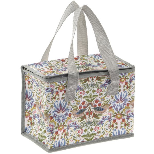 WHT STRAWBERRY THIEF LUNCH BAG