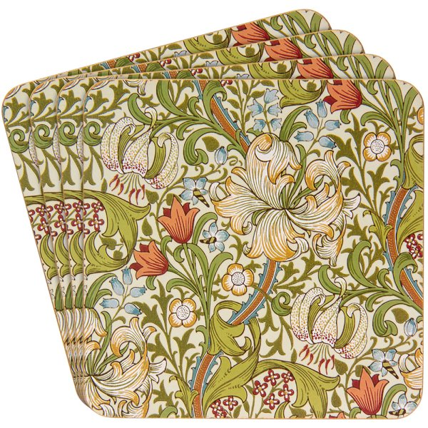 GOLDEN LILY COASTERS SET 4