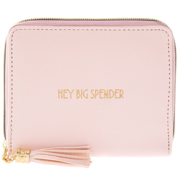 HEY BIG SPENDER WALLET PINK
